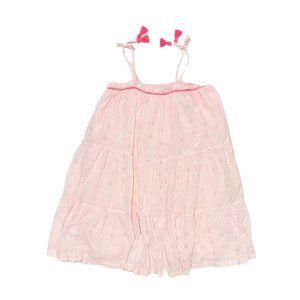 Cotton On Kids Pink Metallic Spaghetti Strap Dress